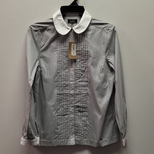 A.P.C. Button Up Cotton Blouse